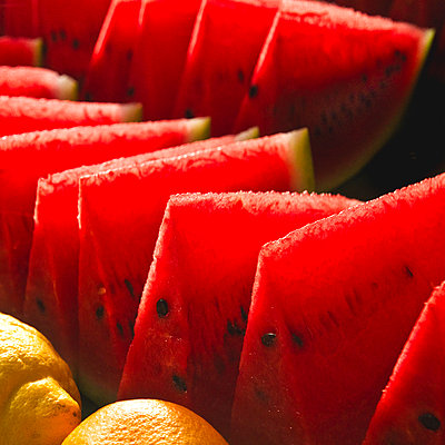 Watermelon Slices - p694m2218935 by Neal Panton