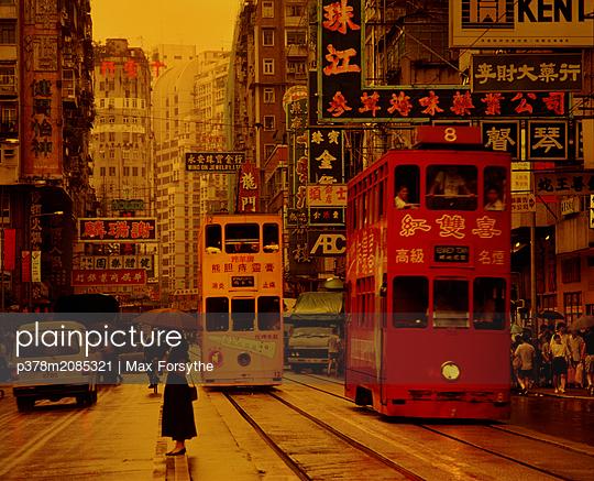 Hong Kong Trams - p378m2085321 by Max Forsythe