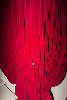 Red curtain - p1177m1221048 by Philip Frowein