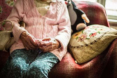 Grandmother - p858m907173 by Lucja Romanowska