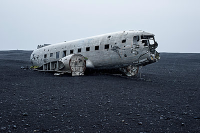 Planewreck on lava soil in Iceland - p947m1586609 by Cristopher Civitillo
