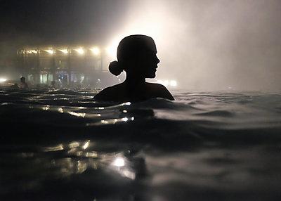 Girl in the Mist - p1503m2015857 by Deb Schwedhelm