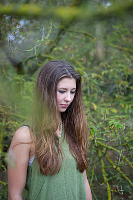 Girl with green dress - p502m966217 by Tomas Adel