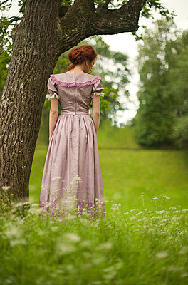 Historically dressed woman - p971m916371 by Reilika Landen