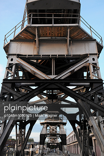 Historic maritime crane - p1048m1080125 by Mark Wagner