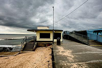 Deserted building on the seashore - p1082m1221913 by Daniel Allan