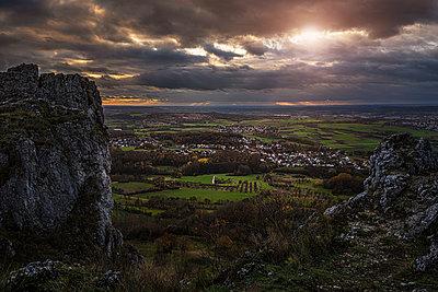 Germany, Bavaria, Franconia, Sunset, Walberla - p1275m2229452 by cgimanufaktur