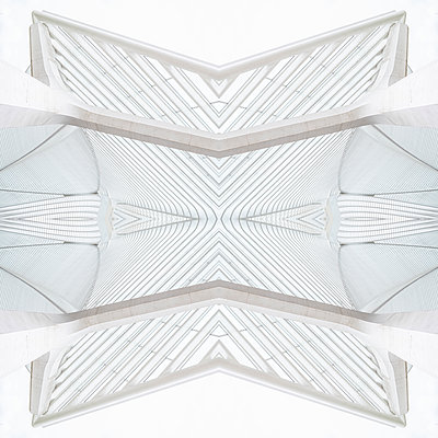 Abstract kaleidoscope pattern Liège-Guillemins station in Liège - p401m2209315 by Frank Baquet