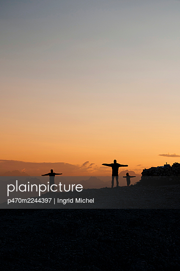 Pale di San Martino at sunrise - p470m2244397 by Ingrid Michel