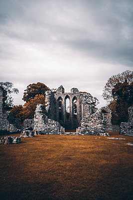 Ruined monastery, Inch abbey, Northern Ireland - p1681m2283599 by Juan Alfonso Solis