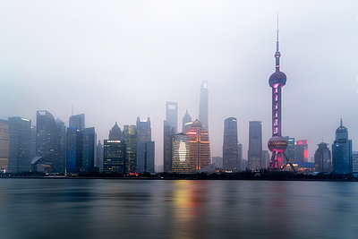 Shanghai Skyline Number 5 - p1154m2022415 by Tom Hogan