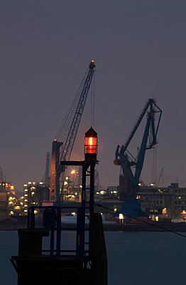 Harbour in Hamburg; Germany - p1790750 by Roland Schneider