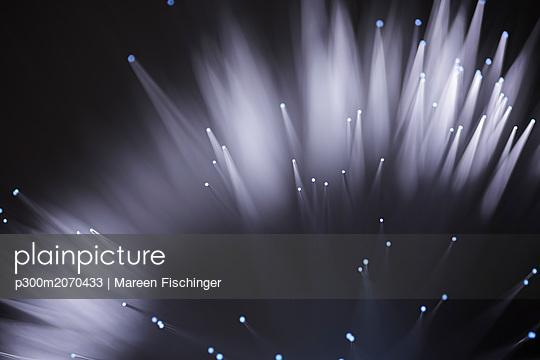 Optical fiber transmitting information - p300m2070433 by Mareen Fischinger