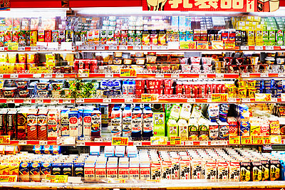 Dairy and non-dairy section in Japanese supermarket - p579m2014828 by Yabo