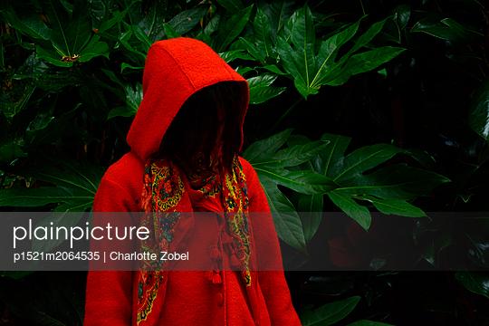Red coat - p1521m2064535 by Charlotte Zobel