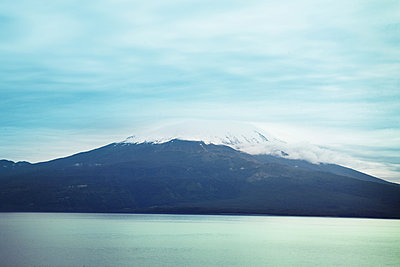 Volcano Osorno on the Lake Llanquihue - p1038m2087612 by BlueHouseProject