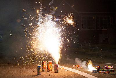 Fireworks - p756m932203 by Bénédicte Lassalle