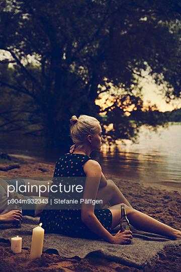 Evening on the river bank - p904m932343 by Stefanie Päffgen