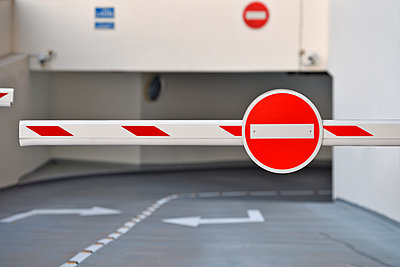 Car park entrance / exit barriers - p1048m1512713 by Mark Wagner