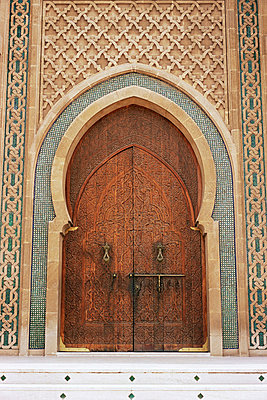 Entrance to mohammed v mosque - p92410084f by Image Source
