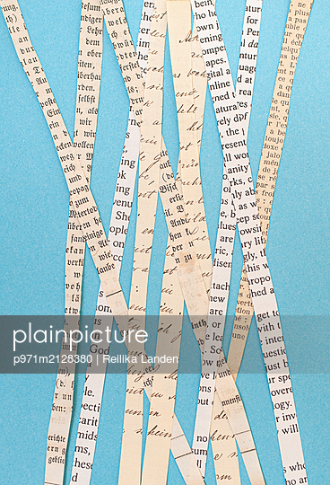 Paper stripes - p971m2128380 by Reilika Landen