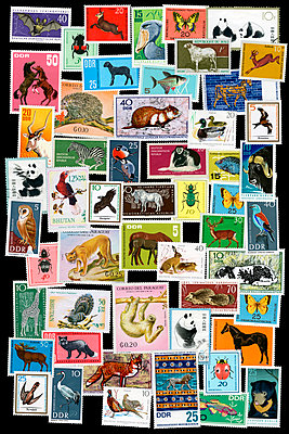 Briefmarkencollage - p415m1492085 von Tanja Luther