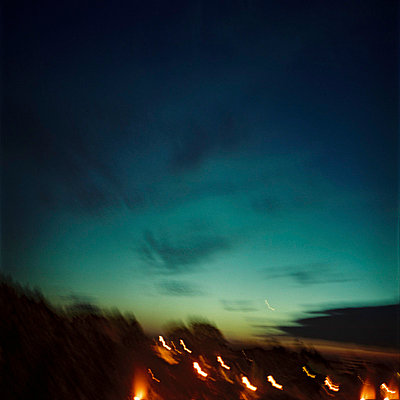 night flight (bayonne) - p5677099 by Sandrine Agosti-Navarri