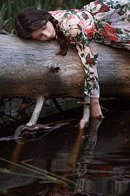 Girl by a lake - p1432m2273307 by Svetlana Bekyarova