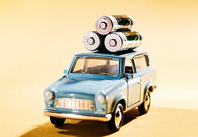 Electric car - p1684m2291989 by Klaus Ohlenschlaeger