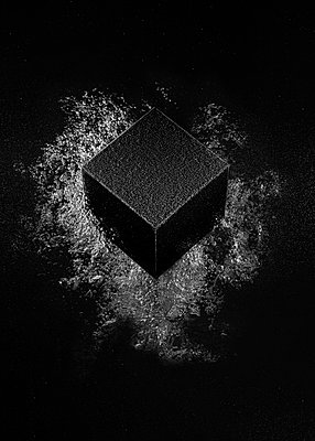 A black cube hits water , CGI - p1652m2230681 by Callum Ollason