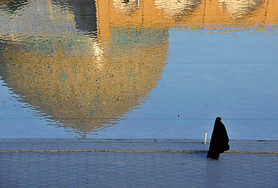 Iran, Isfahan, Sheikh Lotfollah Mosque, Dome Reflection, UNESCO World Heritage list                                                                                                                      - p1014m806623 by Francesco Tomasinelli