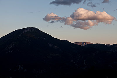 Clouds over a mountain - p212m901156 by Edith M. Balk