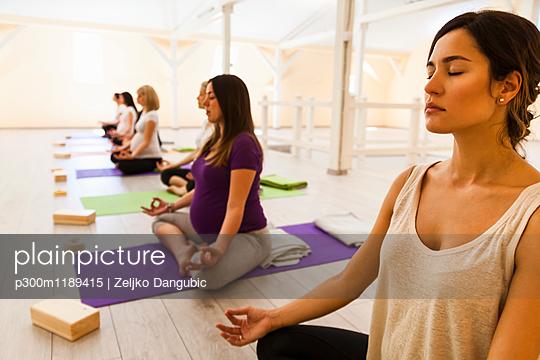 Prenatal yoga class