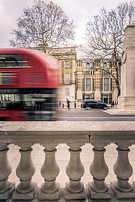 Red Bus - p1402m2065171 by Jerome Paressant