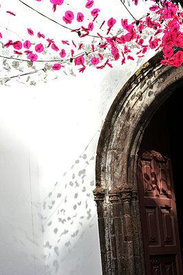 Lichterketten an einer Kirche - p949m658736 von Frauke Schumann