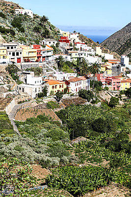 Small mountain village on a slope, La Gomera - p1643m2229410 by janice mersiovsky