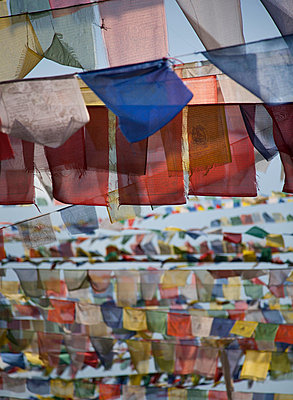 Close up of strings of prayer flags - p42918156 by Elli Thor Magnusson