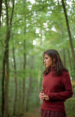 Nachdenkliche Frau - p4470278 von Anja Lubitz
