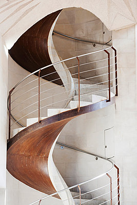 Close-up of spiral staircase - p312m765729f by Per Eriksson