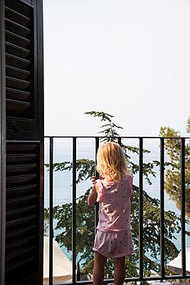Girl on the Balcony  - p1514m2109298 by geraldinehaas
