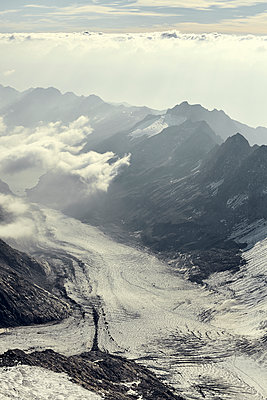 Aerial view of Swiss Alps - p1305m1138645 by Hammerbacher