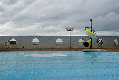 Swimming pool at Trouville - p1189m1219034 by Adnan Arnaout