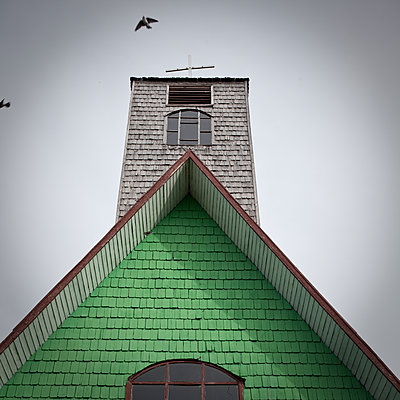 Church bell in Chiloe - p1513m2039162 by ESTELLE FENECH