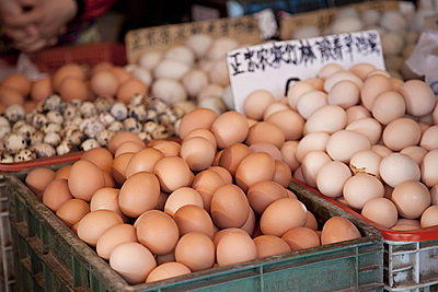China, beijing, eggs in market - p9244883f by Image Source