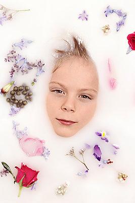Milk Bath - p1323m1220603 by Sarah Toure