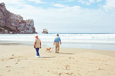 Rentner am Strand - p432m1082552 von mia takahara