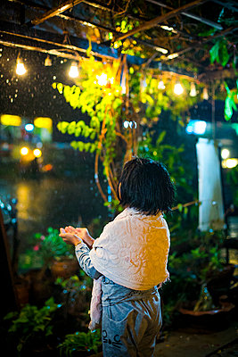 Rainy weather at night - p680m1515279 by Stella Mai