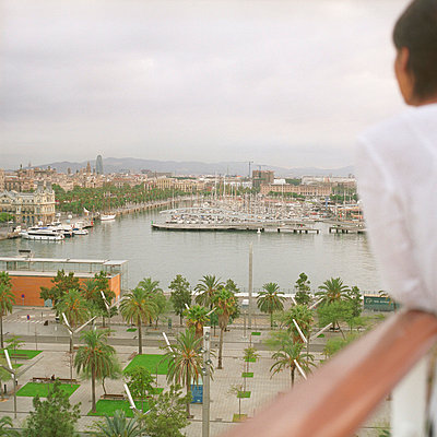 View over Barcelona - p4470338 by Anja Lubitz