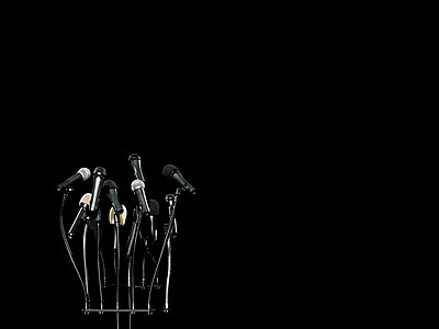 Microphones - p9248850f by Image Source
