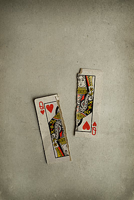 Torn playing card - p1228m1152389 by Benjamin Harte